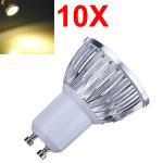 10X Dimmable GU10 6W 540LM Warm White Light LED Spot Bulb 220V LED Light Bulbs