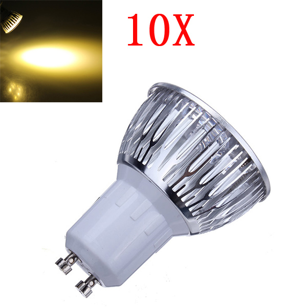 10X Dimmable GU10 9W 600LM Warm White Light LED Spot Bulb 220V LED Light Bulbs
