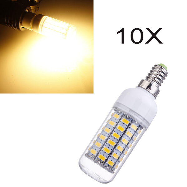 10X E14 1100LM 7.5W 5730 Warm White Energy Saving Corn Light Bulb 220V LED Light Bulbs