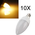 10XE14 2835 SMD 3W Warm White LED Candle Bulb Lamp AC 200-240V LED Light Bulbs