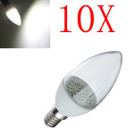 10X E14 2W Pure White 18 SMD3014 LED Candle Light Lamp Bulbs 85-265V LED Light Bulbs