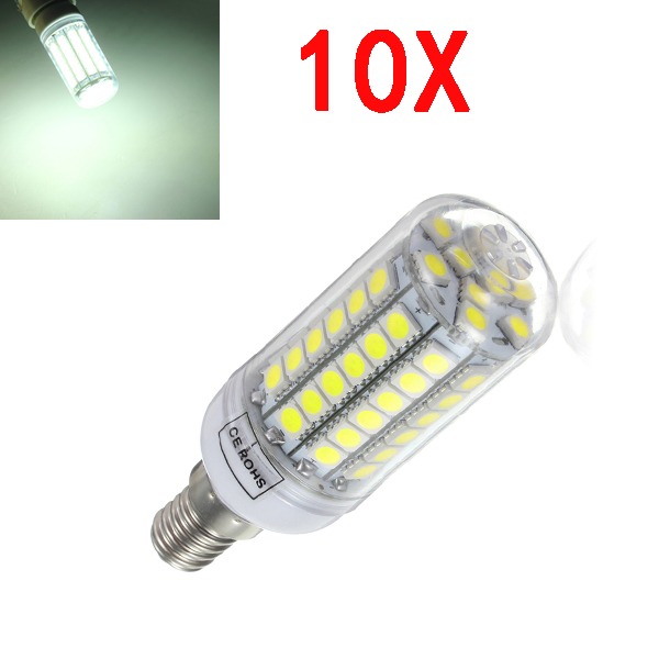 10X E14 5.5W White 828LM 5050SMD 69LED Corn Light Bulb 220V LED Light Bulbs
