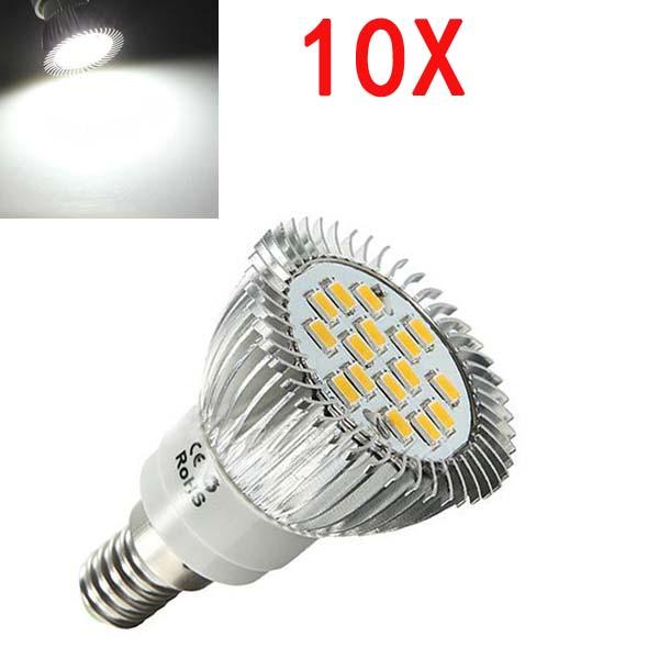 10X E14 6.5W LED Light White 5630 SMD 16 LED Spot Light Bulbs 220V LED Light Bulbs