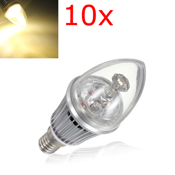 10X E14 Dimmable LED Bulbs 4.2W Warm White Candle Light 85-264V LED Light Bulbs