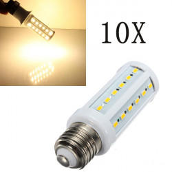 10X E27 11W Varmvit 5630SMD 42 LED Energisparande Corn Lampor 220V
