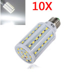 10X E27 12W White 60 SMD 5630 SinglyFire LED Corn Bulb 220V LED Light Bulbs