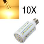 10X E27 15W 60 SMD 5630 Varmvit LED Lampa AC 110V LED-lampor