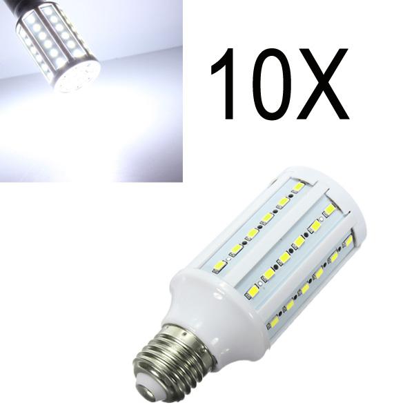 10X E27 15W 60 SMD 5630 White LED Corn Light Bulbs AC 110V LED Light Bulbs