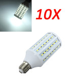 10X E27 20W Pure White 5630SMD 84 LED Corn Light Bulb Lamps 220V LED Light Bulbs