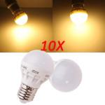 10X E27 3W Varm Hvid Sparepære LED Pære 220V LED-pærer