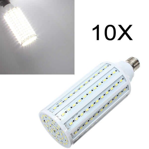 10X E27 40W White 5630 SMD 165 LED Corn Light 220V LED Light Bulbs