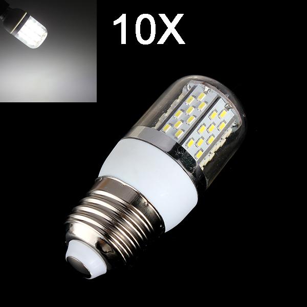 10X E27 4W 520LM Pure White 78 SMD 3014 LED Corn Light Bulbs 85-265V LED Light Bulbs