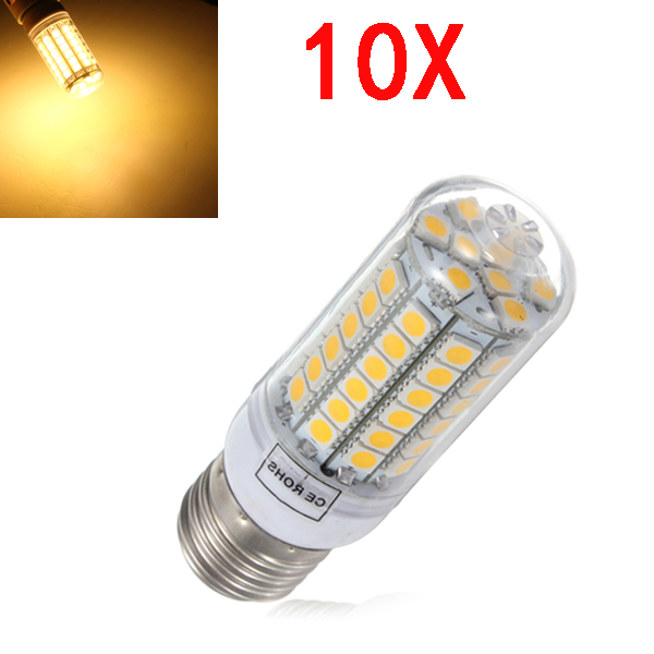 10X E27 5,5 W Varmvit 828LM 5050SMD 69 LED 220-240V LED-lampor