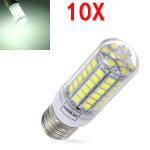 10X E27 5.5W Hvid 828LM 5050SMD 69 LED Corn Lys 220-240V LED-pærer