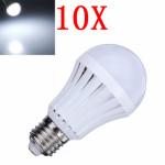 10X E27 5W Pure White 30 SMD3014 LED Light Ball Bulbs Lamp 165-230V LED Light Bulbs