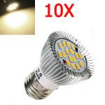 10X E27 6.4W 640LM warmes Weiß SMD5630 16LED Punkt Birnen 85V 265V LED Lampen