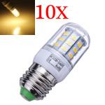 10X E27 7W 504LM Varm Hvid 30 SMD5630 LED Corn Pærer 220-240V LED-pærer