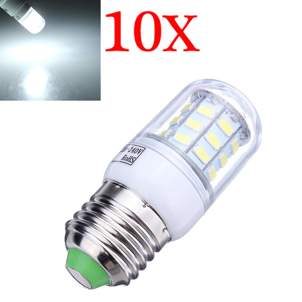 10X E27 7W 560LM White 30 SMD5630 LED Corn Light Lamp Bulbs 220-240V LED Light Bulbs