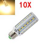 10X E27 8W Varmvit 5630 SMD SinglyFire 42 LED Corn Lampor AC 220V LED-lampor