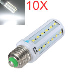 10X E27 8W Vit 42 SMD 5630 AC 220V SinglyFire LED Lampa LED-lampor