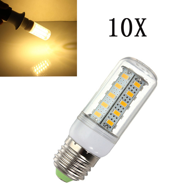 10X E27 LED Birnen 7W Warmweiss 36 SMD 5730 AC 220 V Mais Licht LED Lampen