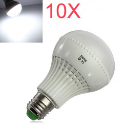 10X E27 LED Bulbs 9W SMD 5730 AC 85-265V White Globe Light