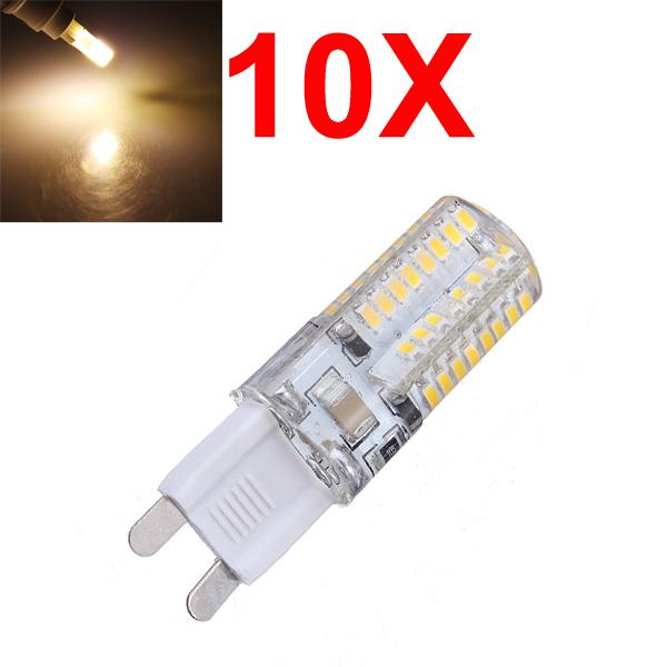 10X G9 3W warmes Weiß 64 SMD 3014 LED Punkt Glühlampe 220V AC LED Lampen