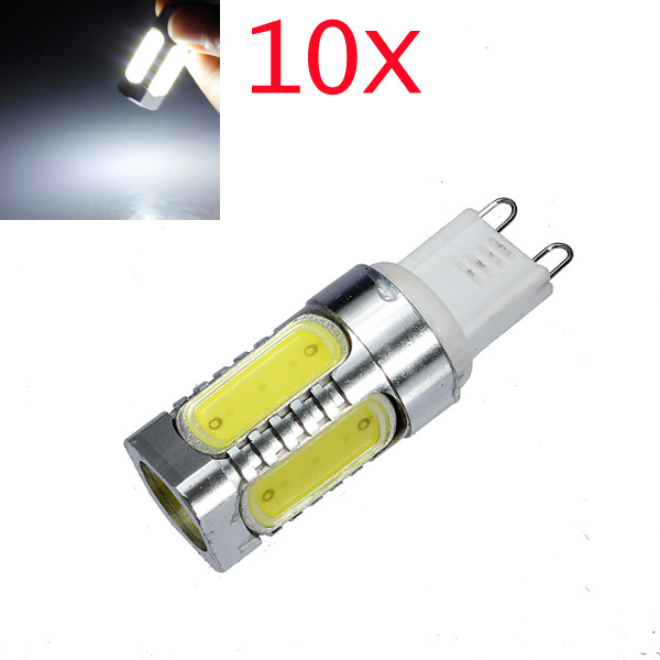 10X G9 7W COB White Aluminum LED Corn Light Bulbs 220V LED Light Bulbs