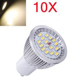 10X GU10 6.4W Warm White SMD 5630 LED Spot Light Bulb AC 85-265V