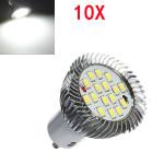 10X GU10 7W 640LM Pure White 16 SMD 5630 LED Light Bulbs Lamps 185-265V LED Light Bulbs