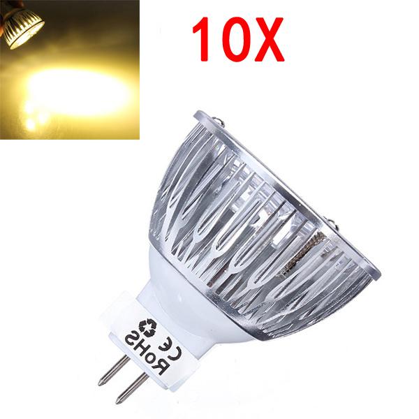 10X MR16 600LM Dimmable 9W Warm White Light LED Spot Bulb 12-24V LED Light Bulbs
