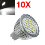 10X MR16 6.4W 480-530LM Vit SMD 5630 LED Spotlight Lampa 10V-18V AC LED-lampor