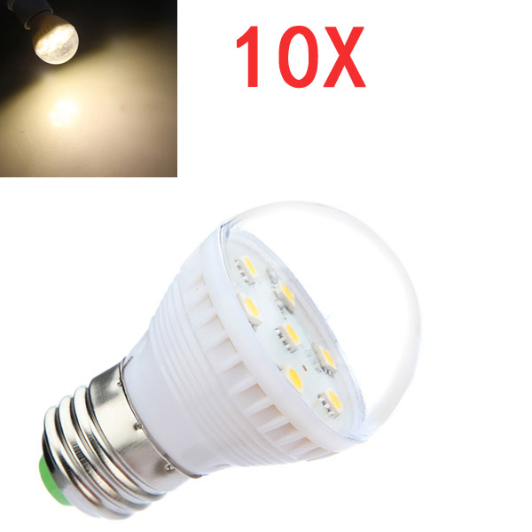 10x E27 2,5W Warmweiß 7 SMD 5050 LED Glühlampe Lampe 110 240V LED Lampen