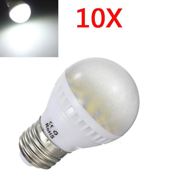 10x E27 5W Pure White 29 SMD 5050 LED Globe Light Bulbs 110-240V LED Light Bulbs