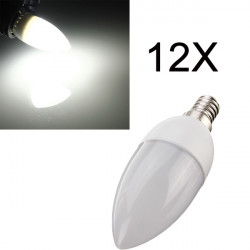 12XE14 2835 SMD 3W White LED Candle Bulb Lamp AC 200-240V