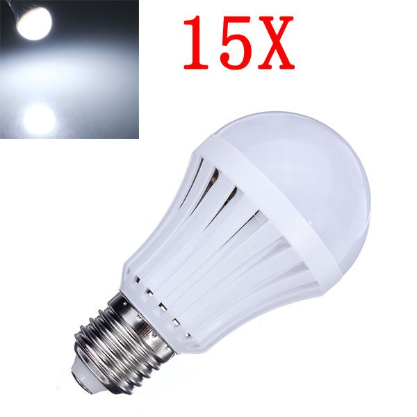 15X E27 5W Pure White 30 SMD3014 LED Light Ball Bulbs Lamp 165-230V LED Light Bulbs