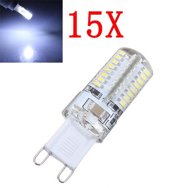 15X G9 3W Pure Vit 64 SMD 3014 LED Lampa 220V LED-lampor