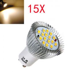 15X GU10 6.4W 16 SMD 5630 LED warme weiße Punkt Birnen 185 265 V