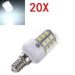 20X E14 3.2W LED White 5050 30 SMD Corn Light Lamp Bulbs AC 220V LED Light Bulbs