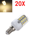 20X E14 3.2W Warm White 5050 SMD 30 LED Corn Bulb With Cover 220V LED Light Bulbs