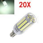 20X E14 5.5W White 828LM 5050SMD 69LED Corn Light Bulb 220V LED Light Bulbs