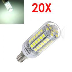 20X E14 5.5W White 828LM 5050SMD 69LED Corn Light Bulb 220V
