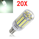20X E14 6W White 700LM 59 SMD5050 LED Corn Light Lamp Bulbs AC220-240V LED Light Bulbs