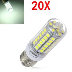 20X E27 5,5 W Vit 828LM 5050SMD 69 LED 220-240V