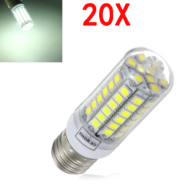 20X E27 5.5W Weiß 828LM 5050SMD 69 LED Mais Licht 220 240V LED Lampen