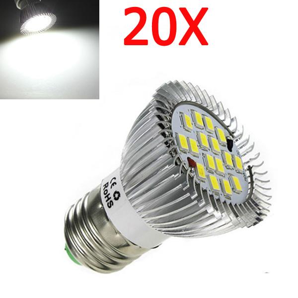 20X E27 7W 600LM Reines Weiß SMD 5630 LED Punkt Glühlampe 85 265V LED Lampen