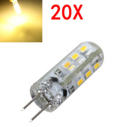 20X G4 1.5W LED Warm White 24 3014 SMD Light Bulb DC 12V