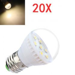 20x E27 2.5W Warm White 7 SMD 5050 LED Light Bulb Lamp 110-240V