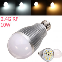 2.4G E27 10W Color Temperature Adjustable Dimmable LED Bulb AC85-265V