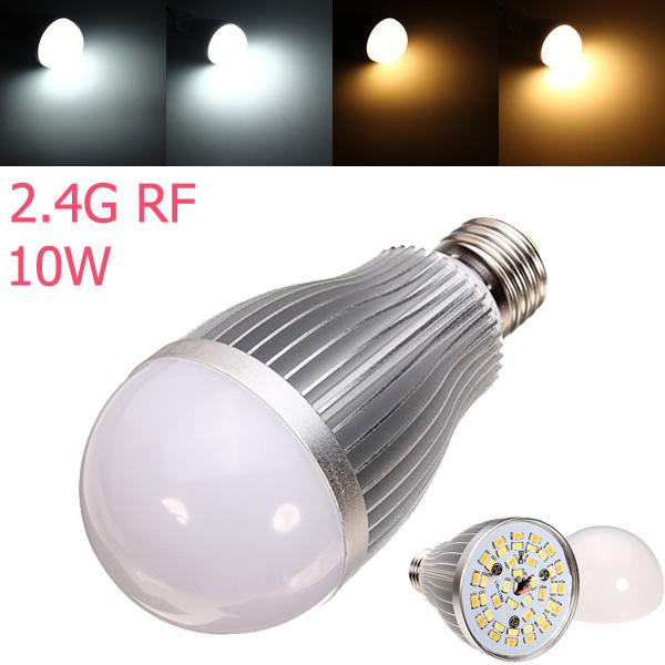 2.4G E27 10W Color Temperature Adjustable Dimmable LED Bulb AC85-265V LED Light Bulbs